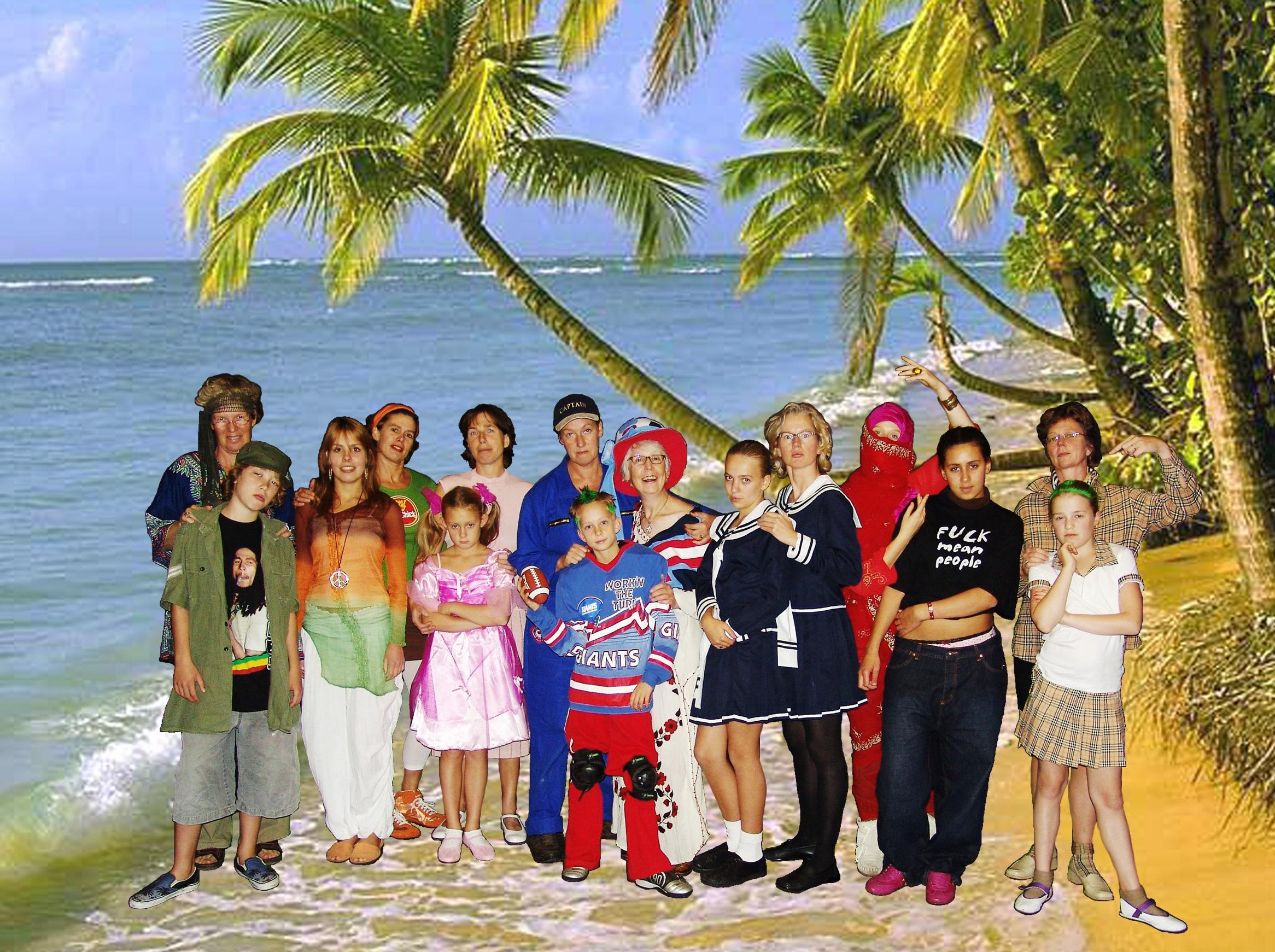 groepsfoto plus eiland